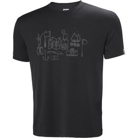 Helly Hansen Skog Graphic Miehet Lyhythihainen paita , musta